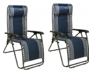 Quest Ragley Relaxer Camping Chair (Twin Pack)
